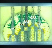 Šeimynėlė , Glass painting  ,  картина на стекле