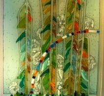 Stiklo pano  , Glass painting  , панно  на стекле