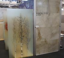 Stiklo pertvaros .  Paroda SURFACE DESIGN SHOW  2014  Londonas . Painted glass panel . SURFACE DESIGN SHOW 2014 LONDON . Панно на стекле . Выставка SURFACE DESIGN SHOW 2014 ЛОНДОН