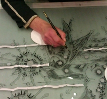 Meninio stiklo studija . Art glass studio