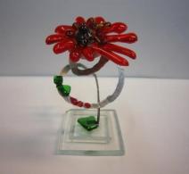 Stiklo suvenyras Gėlė