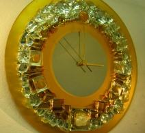 Gintarinis1. ,  clock on mirror  , часы на зеркале