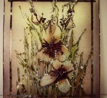 Irisas . Paveikslas ant  veidrodzio .   Painting on mirror   , картина на зеркале