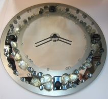 Pakabinamas veidrodis laikrodis , clock on glass , часы на стекле