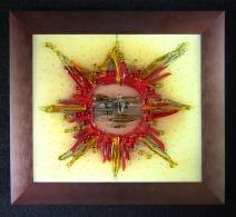 Saulutė ,  Glass painting  , картина на стекле