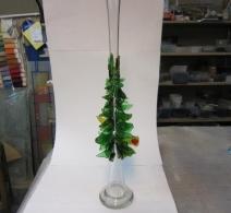 Kalėdinė stiklo vaza Eglutė