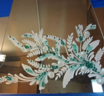 Dekoruotas veidrodis 14 , decorated mirror , Декор на зеркале