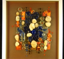 Jūros akmenukai ,  Glass painting  , картина на стекле